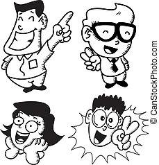 set of cartoon expressions