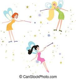 Fairy with a magic wand.