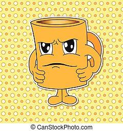Set of cartoon Mug (Cup) emotions V