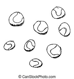 Set of cartoon style ball