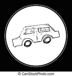 Set of cartoon style car