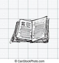 Set of cartoon style notebook