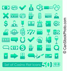 Set of casino icons