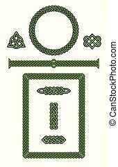 Set of Celtic Knot Vector Design Elements.