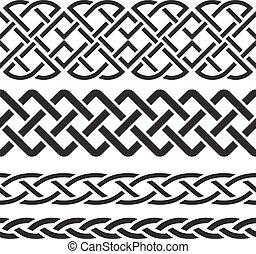 Set of Celtic Pattern Borders