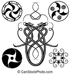 set of celtic patterns