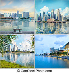 Set of central Singapore images - Singapore central quay...