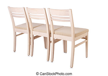 Set of chairs isolated on white