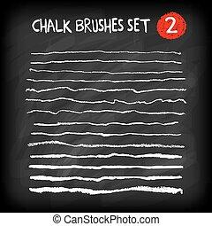 Set of chalk brushes