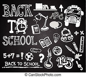 chalk hand drawing BACK TO SCHOOL