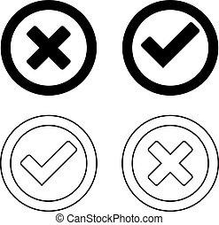 Set of check mark icons
