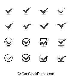 Set of Checkmark Icon