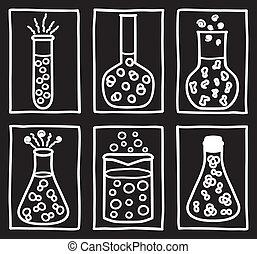 Set of chemical test tubes