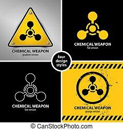 set of chemical weapon symbols