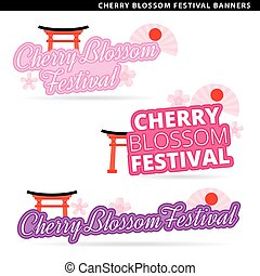 cherry blossom festival banners
