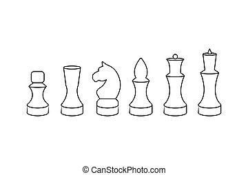 Set of chess piece vector icons