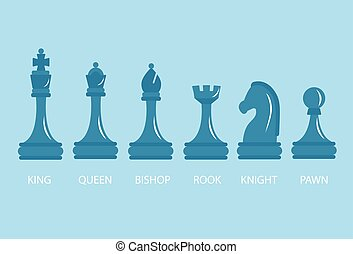 Set of chess pieces.
