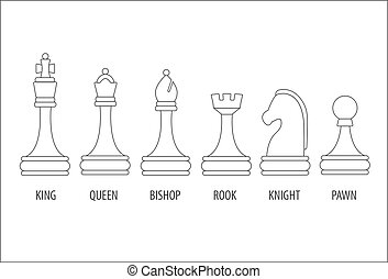 set of chess pieces