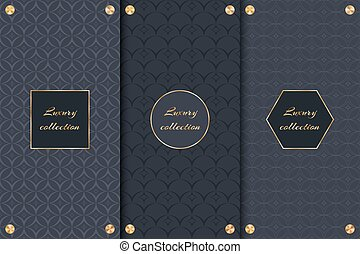 Set of chic dark backgrounds