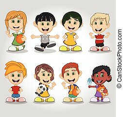 Set of children cartoon