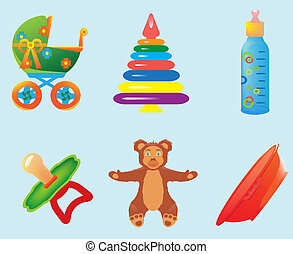 Set of childrens icons