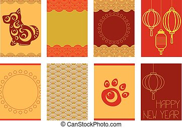 Set of Chinese New Year banners