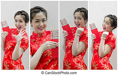 set of Chinese new year. In Chinese, a red packet is a...