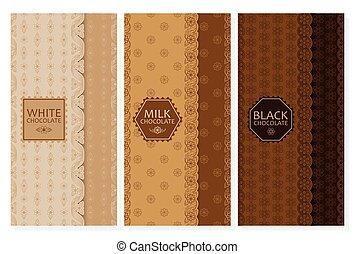 Set of chocolate packaging