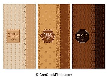 Set of chocolate packaging