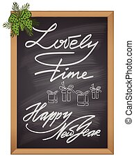 Set of Christmas and New Year decor