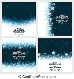 Set of Christmas background.