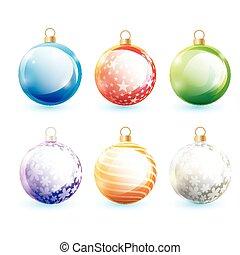 Set of christmas ball