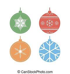 Set of Christmas balls. Vector illustration