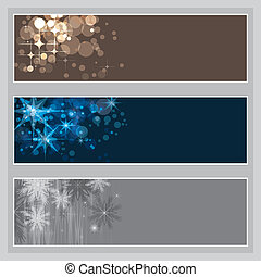 set of Christmas banners, vector