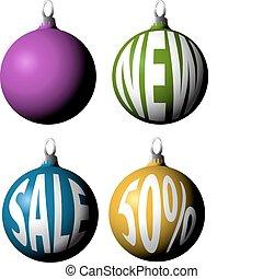 Set of Christmas bulbs