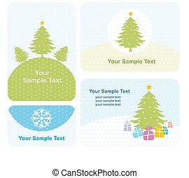 set of christmas card