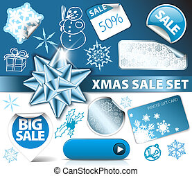 Set of Christmas discount elements - Set of Christmas...