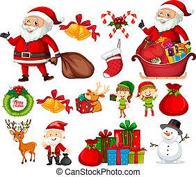 Set of christmas element illustration