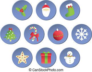 Set of Christmas elements.