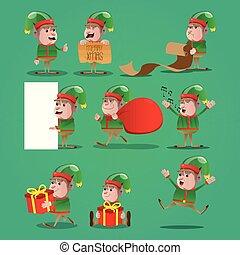 Set of Christmas Elf.