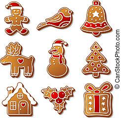 Set of Christmas ginger breads illustration for your design...