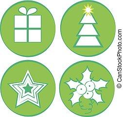 Set of christmas icon isolated on white background.