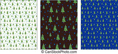 Set of Christmas (New year) background, wrapping paper, vector