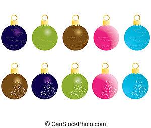 Set of Christmas (New Year) balls