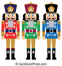 Set of christmas nutcracker - Set of nutcracker, design in...