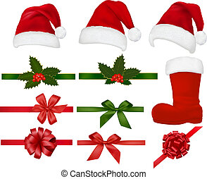 Set of Christmas objects. Vector