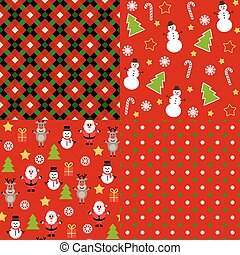 Set of christmas patterns.