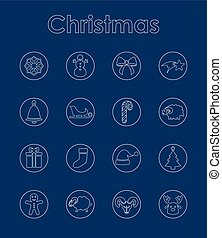 Set of Christmas simple icons