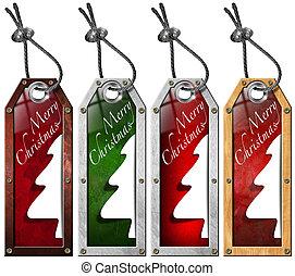 Set of Christmas Tags - 4 items