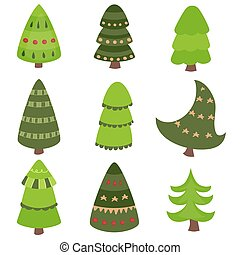 Set of Christmas tree